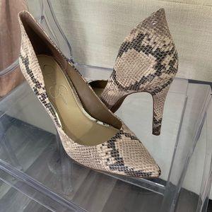 Jessica Simpson snake skin heels size 8.5